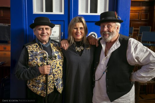 Sylvester McCoy, Sophie Aldred and Terry Molloy (Doctor Who)